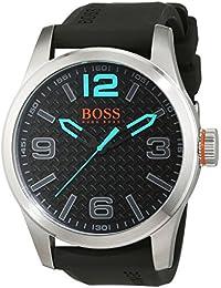 BOSS Orange 1513377 - Reloj de Pulsera para Hombre PARÍS analógico, de Cuarzo, Cuero