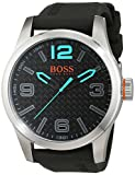 BOSS Orange Herren Analog Quarz Uhr mit Silikon Armband 1513377