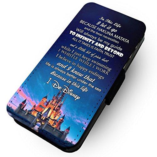WTF in diesem Leben, I Do Disney | Kunstleder Flip-Telefon Fall |, Polyester Kunstleder, HTC One M8 (Htc M8 Flip-telefon Fall)