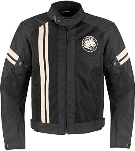 Germot Airsteam Jacke XL Schwarz/Beige (Leder Beige Jacke)