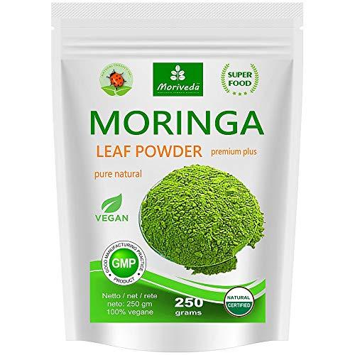 Moringa Blattpulver 250g Oleifera Premium Plus,...
