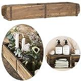 LS-LebenStil Holz Aufbewahrung-Box Ziegelform Unika 2-Fach 57x15x10cm Braun