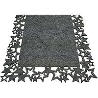 khevga Tischläufer Weihnachten aus Filz - Sterne 30 x 120 cm (1)