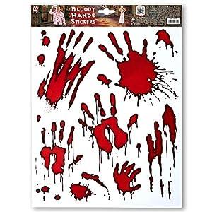 WIDMANN vd-wdm03314pegatinas manos colegiala, rojo, talla única