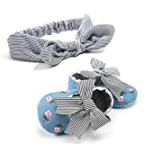 Vovotrade Babyschuhe Prinzessin Baby Mädchen Stickerei Blume Schuhe + 1 STÜCK Haarband Kleinkind Erste Wanderer Kind Schuhe Schuhe Mädchen Leder Schuhe Kids Neugeborene