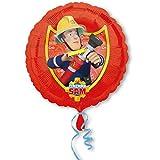 paduTec Folienballon Ballon - Feuerwehrmann Sam - Geburtstag Kindergeburtstag Deko - geeignet zur befüllung mit Helium Gas oder Luft - Europäische Premiumqualität