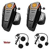 Veetop® Interfono moto cellular line/Interfono moto bluetooth, Impermeabile, compatibile con tutti...