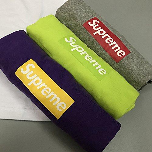 BOMOVO Herren SUPERME Soft Style Box T-Shirt Rundhalsausschnitt 64V00 Weiß