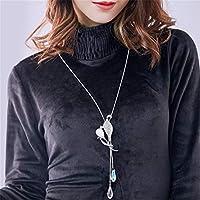 WEIHEEE Cadena de suéter de Hojas con Flecos, Multiusos, para otoño e Invierno, Accesorios de Ropa para Mujer