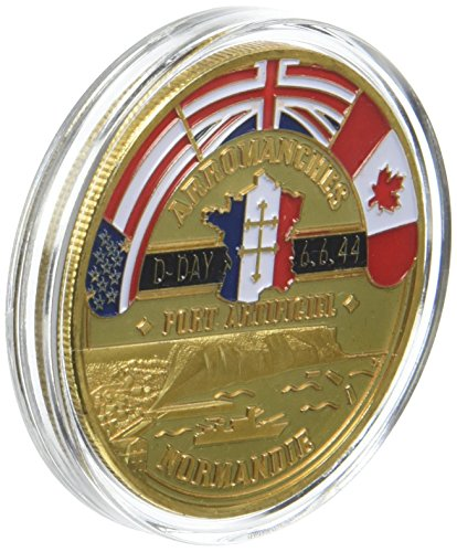 WW2 Memorial Anniversary Coin D Day Army Arromanche, used for sale  Delivered anywhere in UK
