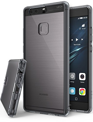 Huawei P9 Plus Hülle, Ringke FUSION kristallklarer PC TPU Dämpfer (Fall geschützt/ Schock Absorbtions-Technologie) für das Huawei P9 Plus - Rauchschwarz
