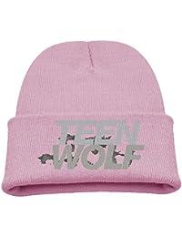 26554f56cdb4aa Teen Wolf Logo Girls Fashion Black Beanie Cap Beanie Hat