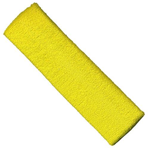 "Freak Scene® Stirnband ""einfarbig"" °Frottee°unifarben°uni°, Farbe: ""gelb-hell"""