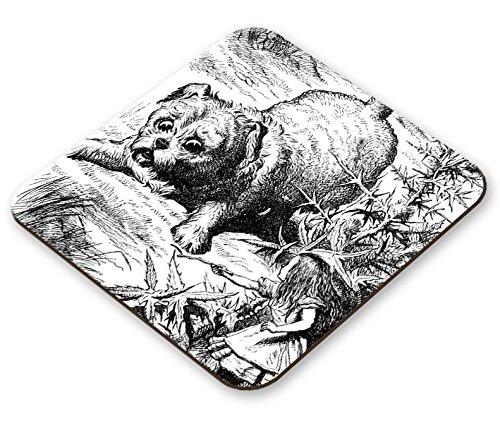 Artwork-Hund Szene von John: Grinsekatze aus Alice im Wunderland Untersetzer ()