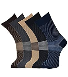 VINENZIA SUPER FINE MERCERISED COTTON MENS DRESS SOCKS 5 PAIRS PACK