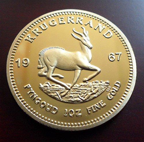 1967 Krügerrand Medaille - vergoldet - Scherzartikel Nerd-geschenk-korb