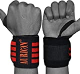 "AURION Wrist Wraps 19"" Professional Grade with Thumb Loops - Wrist Support Braces"