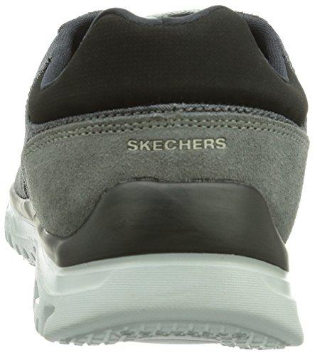 Skechers L-fitcomfort Life, Baskets Basses homme Gris - Gris cendré