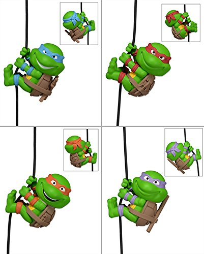 Scalers 5cm Mini-Figuren - TMNT Teenage Mutant Ninja Turtles 4er Set (Leonardo, Michelangelo, Raphael und Donatello)