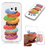 Galaxy S6 Edge Hülle, Anlike Samsung Galaxy S6 Edge /G9250 (5,1 Zoll) Handy Hülle [Bunte Muster Design] Schutzhülle - Donuts