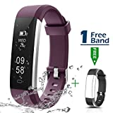 Ultrathin Fitness Tracker, CHEREEKI Fitness Trackers with IP67 Waterproof Activity Tracker Sport Smart Watch Smartwatch Sleep Monitor Message Push SNS Alert for Android Phone and iOS iPhone