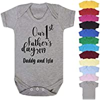 Personalised Our First Fathers Day 2019 Baby Vest Baby Romper New Dad Gifts First Fathers Day Gifts Babywear