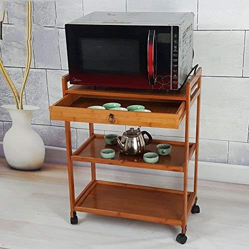 et für Küche Home Office Wohnzimmer , Regal Massivholzboden Typ Speisewagen Wagen Küche Wohnzimmer Europäischen Stil,Schubladenstil ()
