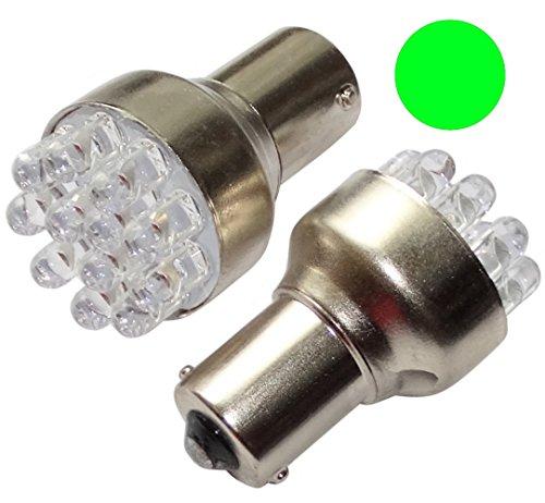 Aerzetix: 2x ampoule P21W R5W R10W 12V 12LED vert base 1156