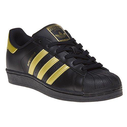 adidas SUPERSTAR J, Unisex Kids' Sneakers, Black (Negbas/Dormet/Dormet), 4 UK (36.7 EU)