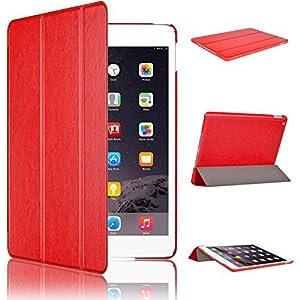 Swees® Smart Cover pour Apple iPad Air 2 Case Étui Housse   Fin et robuste, l'iPad Smart Case protège l'écran et le dos en aluminium de votre iPad air 2. Votre iPad est ainsi couvert de tous les côtés.   Matériel   Extérieur---cuir PU synthétique rés...
