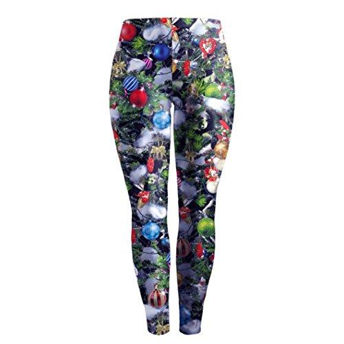 Ouneed® Femme Costume Legging en Polyester Multicolore