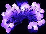 Homedecoam 40 LED 4M Kugeln Lichterkette Leuchte Batteriebetrieb für Party Zimmer Weihnachten Beleuchtung Deko Lila