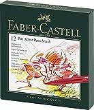 Faber-Castell 167146 Tuschestift Pitt Artist Pen B, Atelierbox 12er