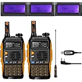 Baofeng GT di 3TP Mark III 8 W 2 m/70 cm UHF/VHF Dual Band mano dispositivo Radio (2 PCs with programming cable)