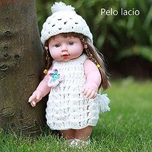 Local Makes A Comeback- Suéter Falda Blanca Cabello Liso (HYM71)