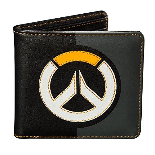 Overwatch Geldbörse Logo Brieftasche 10,5x9,5x1,3cm schwarz
