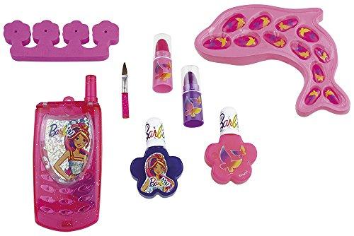 Happy People 52004 Barbie Schmink-Set Delfin, für Mädchen, Make-Up Zubehör