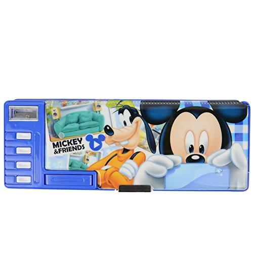 Disney Mickey Mouse sveglio multifunzionale Cassa di matita / matita-box 83020-04 (Blu)