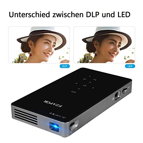 Ezapor Mini Projector 800 Lumen 800x480 Resolution Video Beamer support HDMI VGA AV USB TV SD DC Black Color DLP Projector