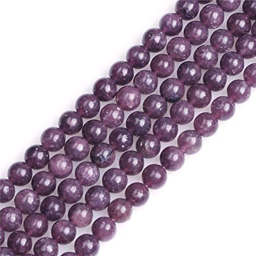 Sweet & Happy Girl's store 6mm runden Edelstein rosa Turmalin Perlen Strang 15 Zoll Schmuckherstellung Perlen -