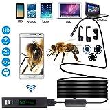 Wireless endoscopio IP68 impermeable Inspección Cámara de 2.0 megapíxeles hd1200p serpiente con 8LEDs para Android IOS Smartphone iPhone Samsung Tablet –10m