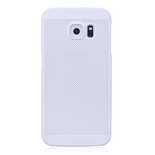 "iProtect Apple iPhone 7 Coque Rigide en Design ""Toile"" en doré Grid Effect in blanc"