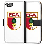 DeinDesign Apple iPhone 7 Tasche Leder Flip Case Hülle FC Augsburg Fanartikel Football