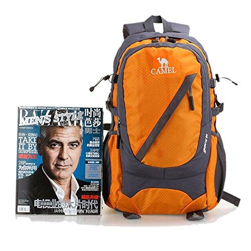 Wewod Männer und Frauen Reisen Bergsteigen Taschen 30L Wandern im Freien Rucksack Wasserdicht Orange