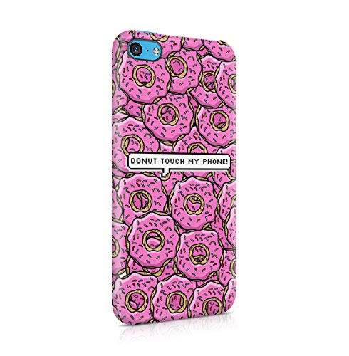 I Donut Care Donuts Pattern Print Apple iPhone 5 , iPhone 5S , iPhone SE Snap-On Hard Plastic Protective Shell Case Cover Custodia Dont Touch My Phone