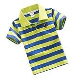 YouPuer Kinder Jungen Mädchen Gestreift Polo T-Shirts Sommer Baumwolle Poloshirt T-Shirt