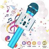 Microfono Karaoke bluetooth, NASUM Wireless Microfono Portatile Altoparlante bluetooth 4.2 Alta Qualità del suono 3-in-1 Microfono con doppio altoparlante per iPhone/Android/iPad/PC