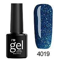 Gaddrt 8ml Nail Shining UV Gel Polish Soak Off Nail Art Topcoat Base Coat Gel Varnish Long-lasting