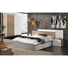 tete de lit avec chevet. Black Bedroom Furniture Sets. Home Design Ideas