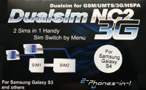 2-phones-in-1® 2in1-nc2s4 Adapter NC2 für Samsung Galaxy S4 Dual Sim